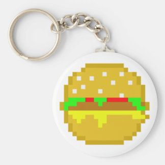 8 Bit-Hamburger Schlüsselanhänger