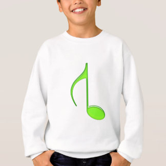 8. Gedrehtes großes Grün 2010 der Musik Anmerkung Sweatshirt