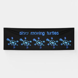 8' x2.5 langsame blaues Wasser-Schildkröten Banner