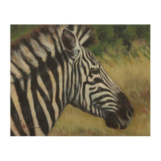 "8"" x 10"" Zebra-hölzerne Wand-Kunst-Platte Holzdruck"