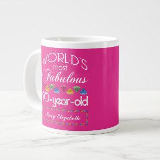 90. Geburtstag das meiste fabelhafte bunte Jumbo-Tasse