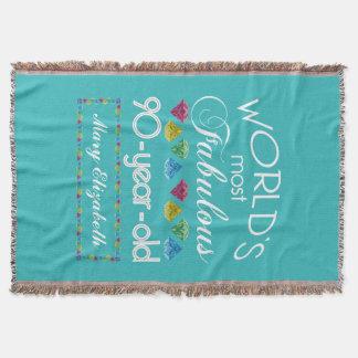 90. Geburtstag der meiste fabelhafte bunte Decke