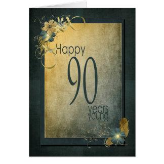 90. Geburtstag-Vintager Rahmen Grußkarte