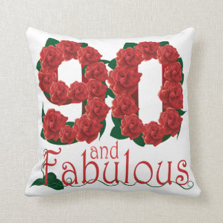 90. Geburtstags-Blume Kissen