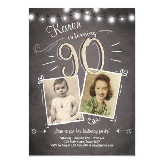 90. Geburtstags-Einladungs-Vintager neunzig Karte