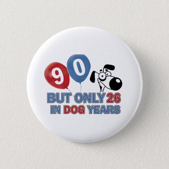 90-Geburtstags-Entwurf Runder Button 5,1 Cm
