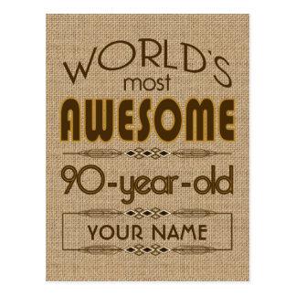 90. Geburtstags-Feier-Welt gut fabelhaft Postkarte