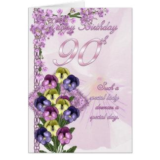 90. Geburtstags-Karte für eine spezielle Dame Karte