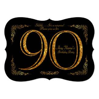 90., Geburtstags-Party 90., großes Gatsby, Karte