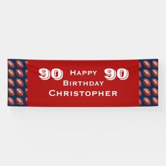90. Geburtstags-Party-Fußball-Fahne, Erwachsener Banner