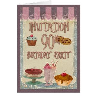 90. Geburtstags-Party - Kuchen, Plätzchen, Karte