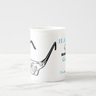 90. Geburtstags-personalisierte Tasse der Glas-3D