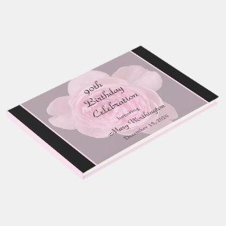 90. Geburtstags-rosa Rosen-Gast-Buch Gästebuch