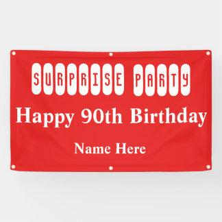 90. Geburtstags-Überraschungs-Party Banner