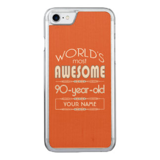 90. Geburtstags-Weltbeste fabelhafte Carved iPhone 8/7 Hülle
