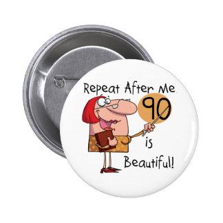90 ist schöne T-Shirts und Geschenke Runder Button 5,7 Cm