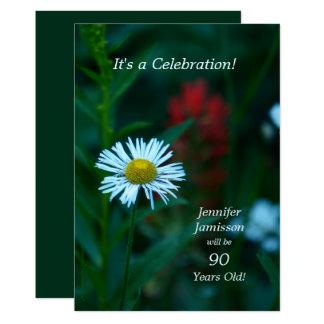 90 Jahre alte Geburtstags-Party-lädt weißes Karte