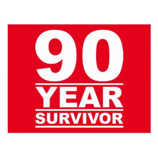 90-jähriger Überlebender Postkarte