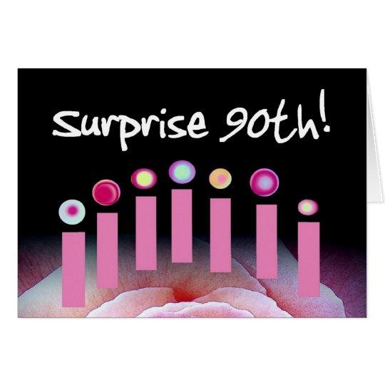 90. Überraschungs-Geburtstags-Party laden mit Grußkarte