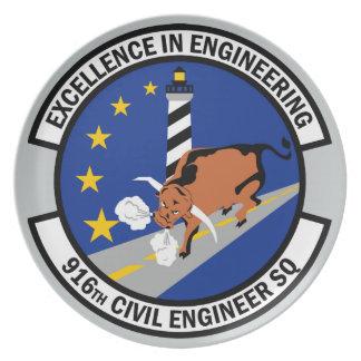 916th Ziviles Ingenieur-Geschwader Melaminteller