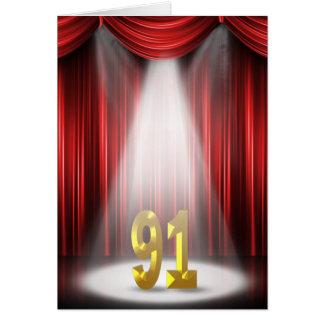 91. Geburtstag im Scheinwerfer Karte