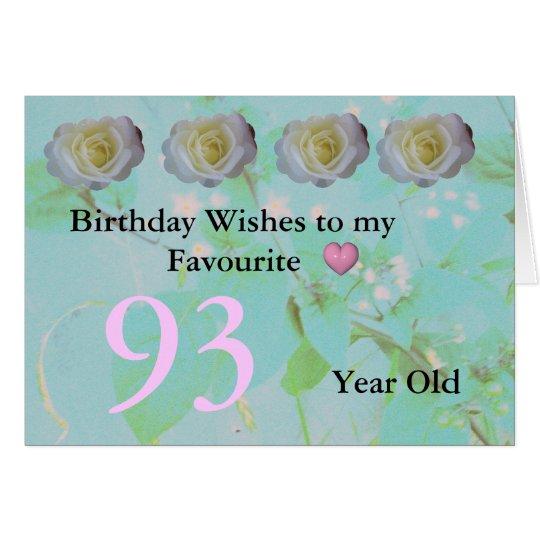 93. Geburtstag Grußkarte