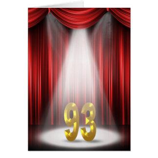 93. Geburtstag im Scheinwerfer Karte