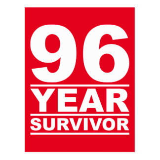 96-jähriger Überlebender Postkarte