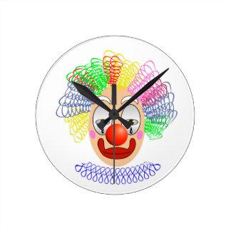 97Clown Head_rasterized Runde Wanduhr