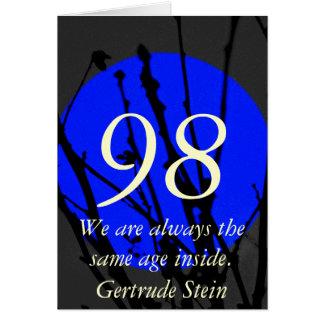 98. Geburtstag Karte