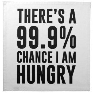 99,9 Möglichkeit habe ich Hunger Stoffserviette