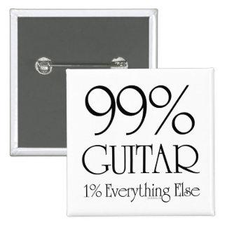99% Gitarre Quadratischer Button 5,1 Cm
