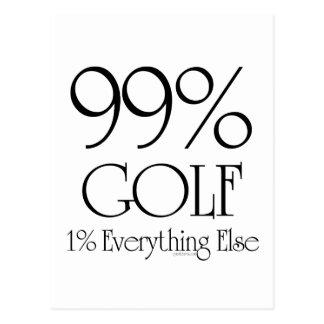 99% Golf Postkarte