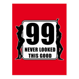 99 never looked this good postkarte