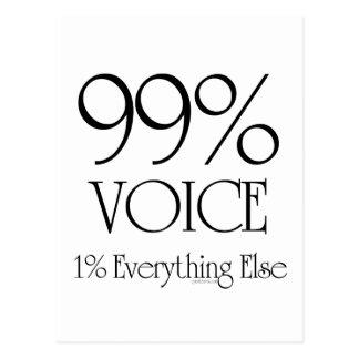 99% Stimme Postkarte