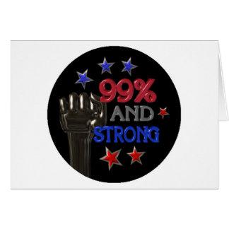 99% und starker Protest auf 30 Einzelteilen Grußkarte
