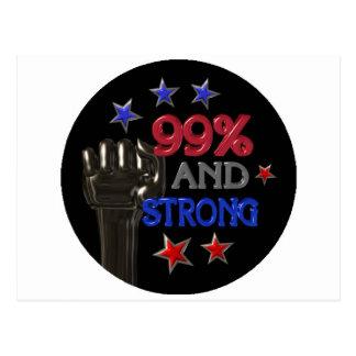 99% und starker Protest auf 30 Einzelteilen Postkarten