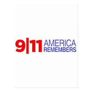 9/11 Amerika erinnert sich Postkarte