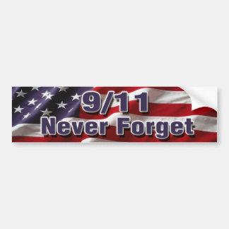 9/11 vergessen Sie nie Autoaufkleber
