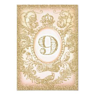 9. Geburtstags-einst Prinzessin 12,7 X 17,8 Cm Einladungskarte