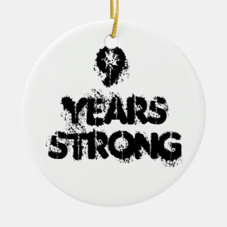 9 Jahre starke Erholungs- Keramik Ornament