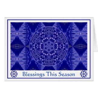 A001 Schneeflocke Mandala.Blue.Customizable.Card 3 Karte