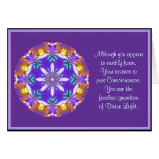 A01 kaleidoskopische Mandala BlumenDesign.4 Karte