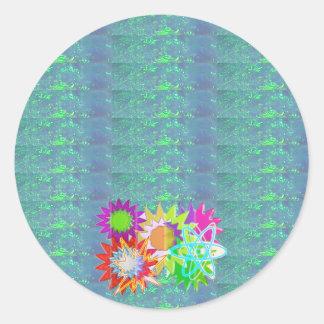 A102 KOOLshades HealingStone Mondschein-Schein Runder Aufkleber