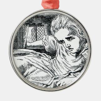 A; Eis voll gestopft in einem Haus Rundes Silberfarbenes Ornament