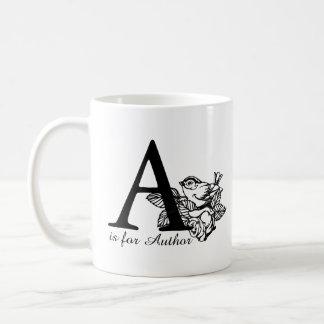 A ist für Autor Kaffeetasse