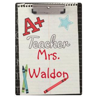 A+ Lehrer-personalisiertes Klemmbrett