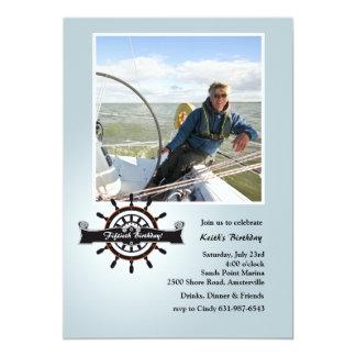 À l'invitation nautique de photo de barre carton d'invitation  12,7 cm x 17,78 cm