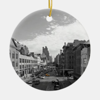 A yellow cab in New York City Keramik Ornament