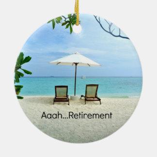 Aaah… Ruhestand Rundes Keramik Ornament